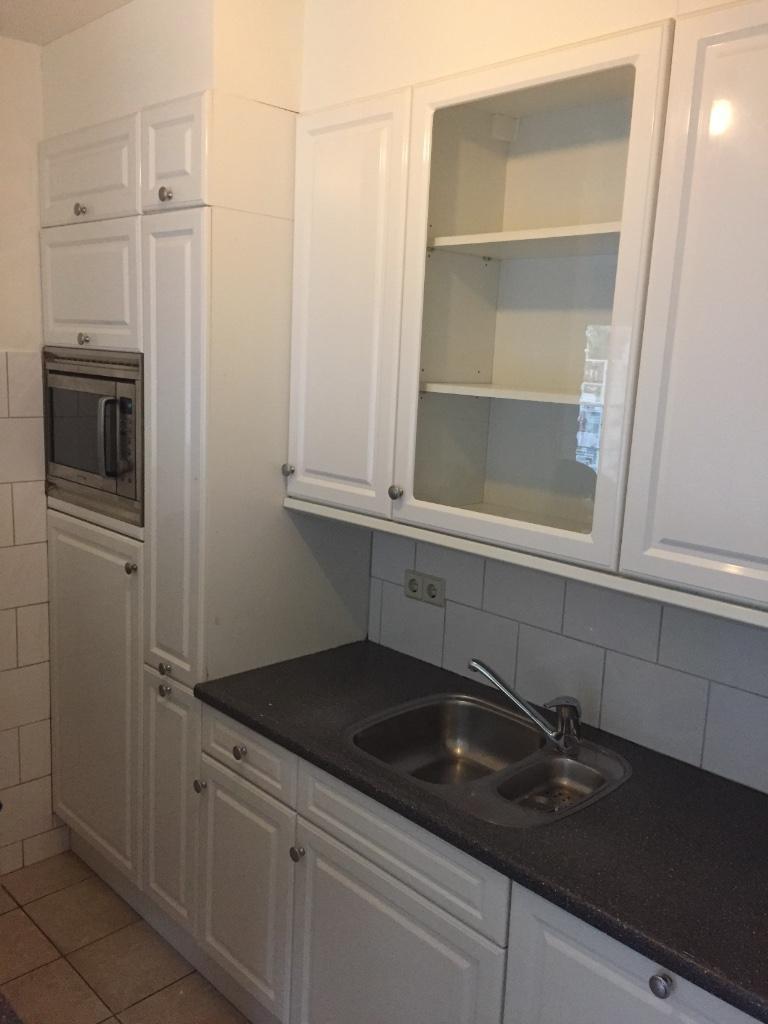 brocante keuken met eiland : Landelijke Witte Rechte Keuken 3 11 Meter Apparatuur