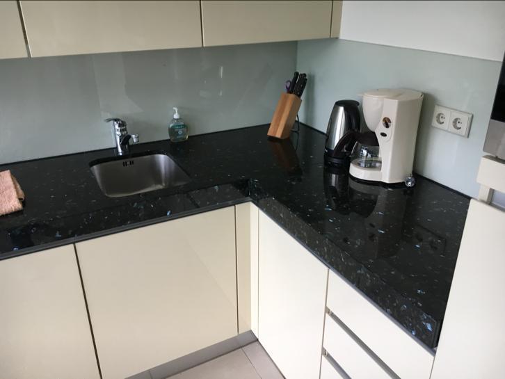 Moderne L Keuken : Moderne creme hoogglans l keuken incl apparatuur graniet