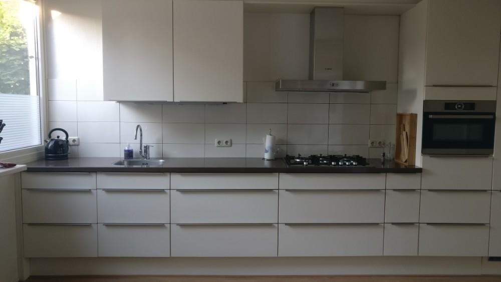 Tweedehands Rechte Keuken : Moderne luxe grote rechte keuken meter composiet blad