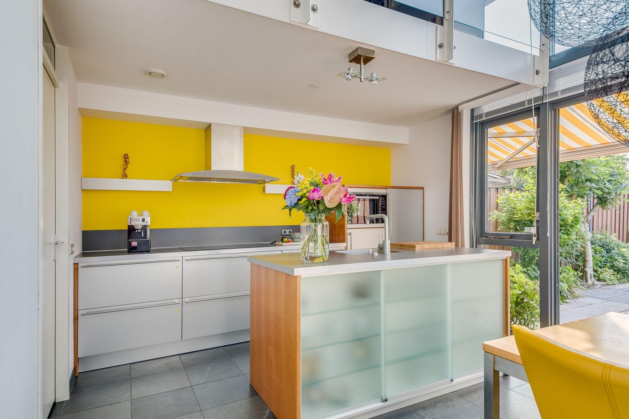 Tweedehands Rechte Keuken : Moderne grijze rechte keuken eiland apparatuur tweedehands