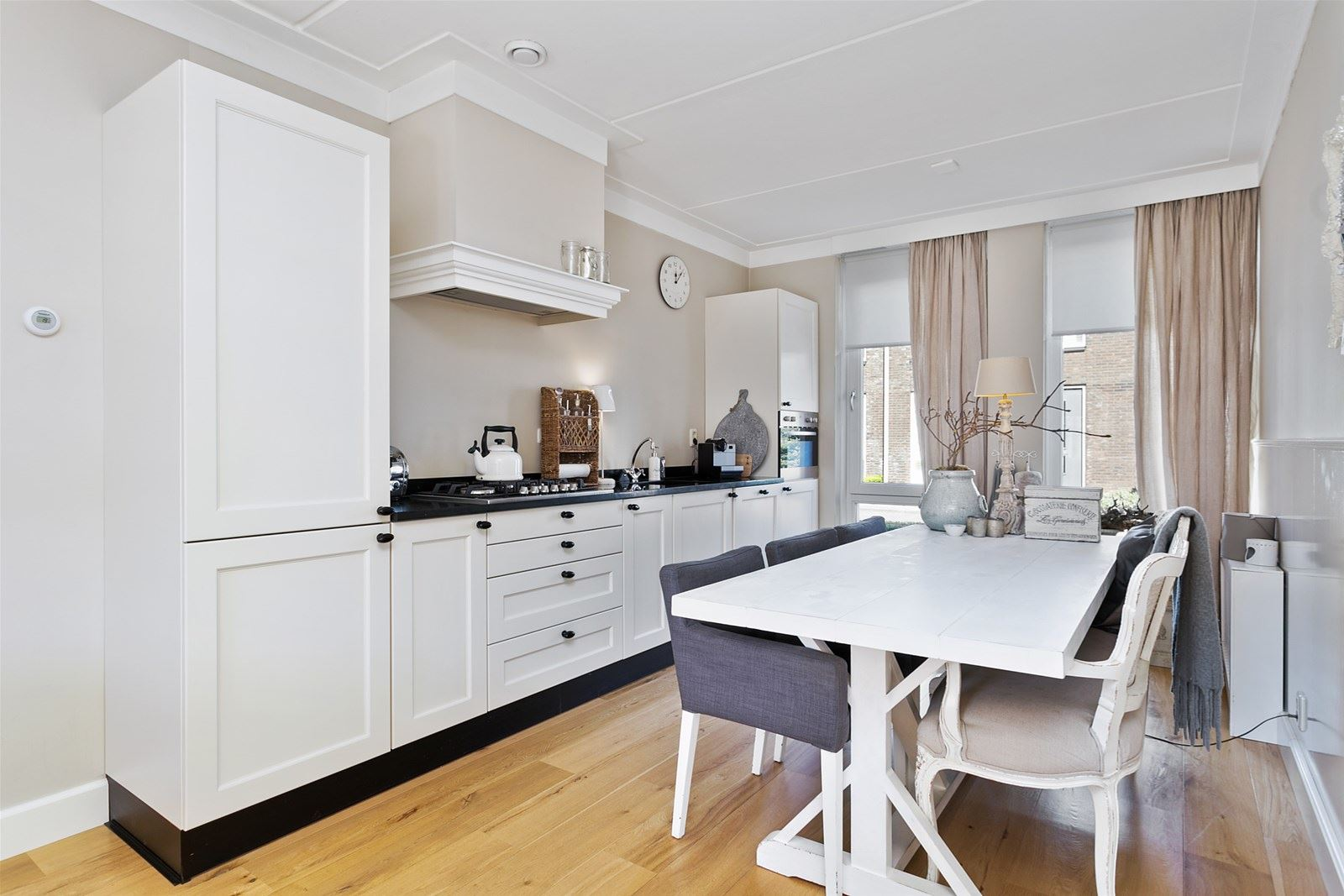 Tweedehands Rechte Keuken : Moderne brocante witte rechte keuken graniet 3 80 meter