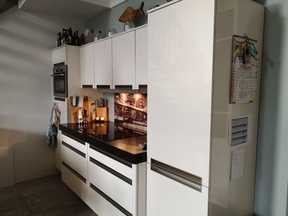 Italiaanse salvani chamonix creme hoogglans eiland keuken