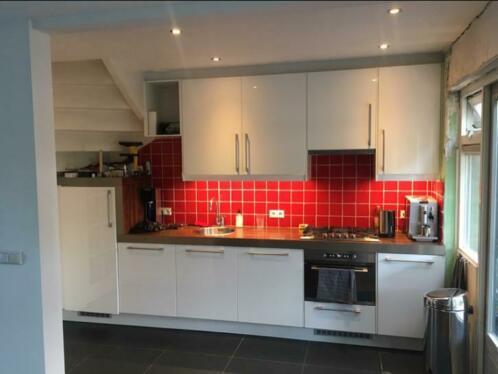 Tweedehands Rechte Keuken : Complete witte hoogglans rechte keuken 3 60 meter apparatuur