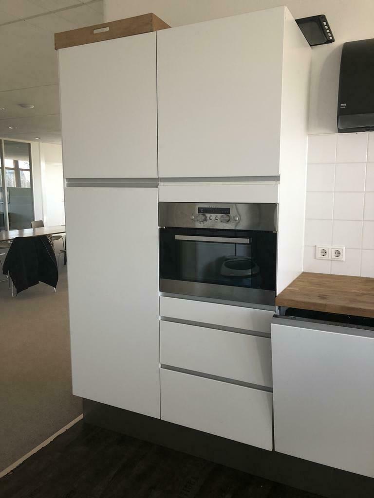 Wonderlijk Moderne greeploze luxe witte ikea keuken +WAND +apparatuur WN-94